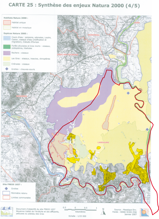 Carte Natura 2000, Labeaume