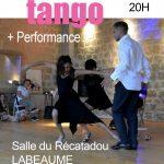 Bal Tango Vendredi 3/08 20h salle du Récatadou