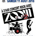 Concert Rock Samedi 11 Août 21h place du Sablas