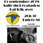 Bal Folk Samedi 15 septembre Récatadou