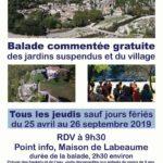 Visites guidées du village et des jardins suspendus