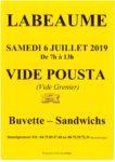 Vide Pousta Samedi 6 juillet de 8h à 13h