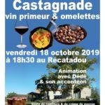 Castagnade et vin primeur, vendredi 18/10 à partir de 18h30 au Récatadou