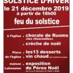 Feux du solstice, samedi 21/12 à partir de 17h